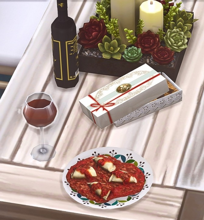 Sims 4 Birthday Mini Clutter Meal and Gift at Josie Simblr