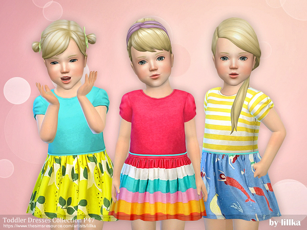 Sims 4 Toddler Dresses Collection P47 by lillka at TSR