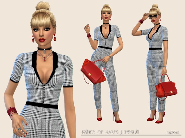 Prince of Wales Jumpsuit by Paogae at TSR image 2222 Sims 4 Updates
