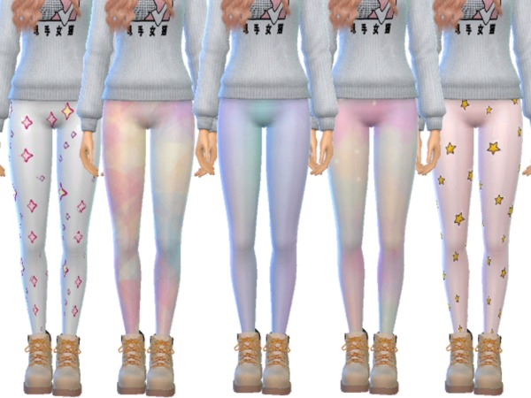 Tumblr Themed Leggings Pack Twelve by Wicked Kittie at TSR image 2226 Sims 4 Updates