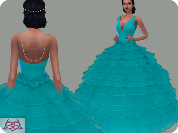 Sims 4 Wedding Dress 16 RECOLOR 1 by Colores Urbanos at TSR