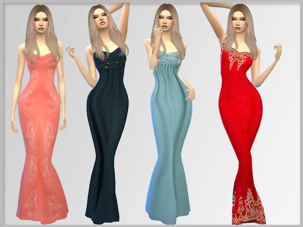 Sims 4 Evening dress 01 by PrettyLittleSimsCoco at TSR
