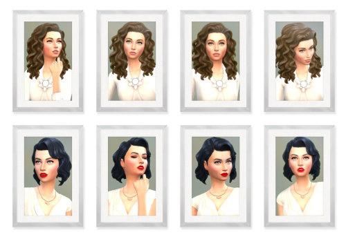 Sims 4 Real Sim Portraits  Part I Blaire & Nyla at SimPlistic