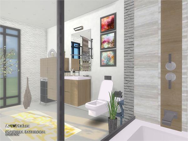 Mayorka Bathroom by ArtVitalex at TSR image 228 Sims 4 Updates