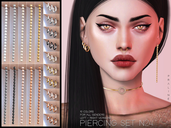 Piercing Set N24 by Pralinesims at TSR image 2310 Sims 4 Updates