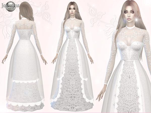 Atanis Wedding Dress 3 By Jomsims At Tsr Sims 4 Updates