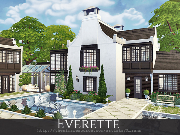 Sims 4 Everette house by Rirann at TSR