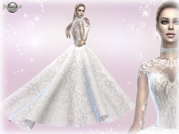 Atanis Wedding Dress 2 Princess By Jomsims At Tsr 187 Sims 4