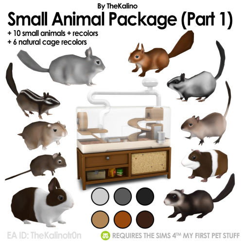 Sims 4 Small Animal Package and Recolors at Kalino