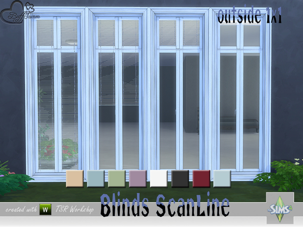 Blinds ScanLine Outside by BuffSumm at TSR image 2324 Sims 4 Updates