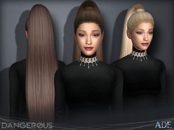 Dangerous hair by Ade Darma at TSR image 2325 Sims 4 Updates