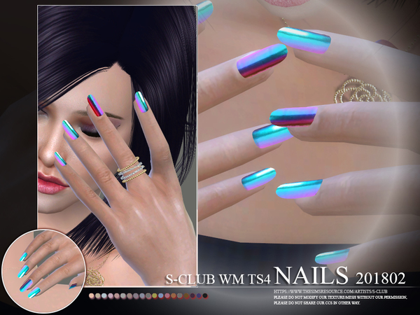 Nails 201802 by S Club WM at TSR image 234 Sims 4 Updates