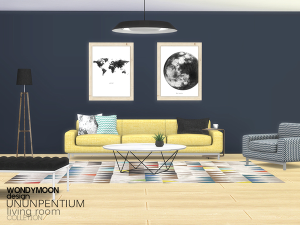 Ununpentium Living Room I by wondymoon at TSR image 2410 Sims 4 Updates
