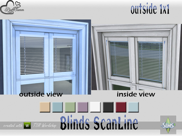 Blinds ScanLine Outside by BuffSumm at TSR image 2423 Sims 4 Updates