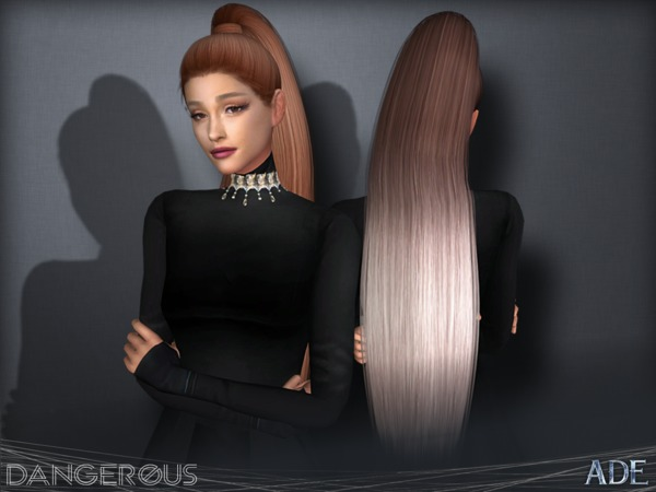 Sims 4 Dangerous hair by Ade Darma at TSR