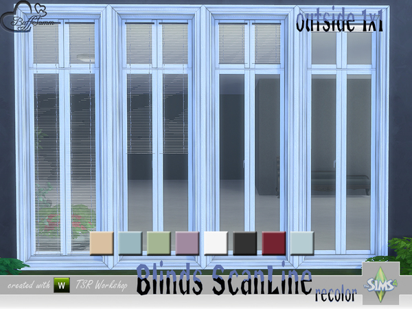 Recolor Blinds ScanLine Outside by BuffSumm at TSR image 2425 Sims 4 Updates