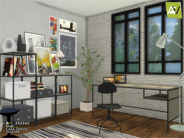 Casa Office by ArtVitalex at TSR image 248 Sims 4 Updates