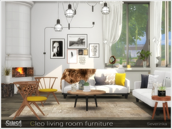 Sims 4 Cleo living room by Severinka at TSR