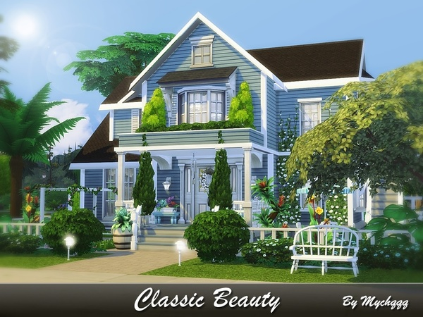 Classic Beauty house by MychQQQ at TSR image 2515 Sims 4 Updates