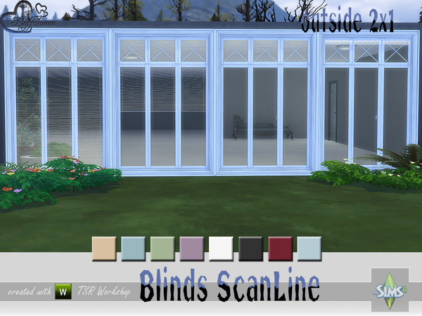 Blinds ScanLine Outside by BuffSumm at TSR image 2522 Sims 4 Updates
