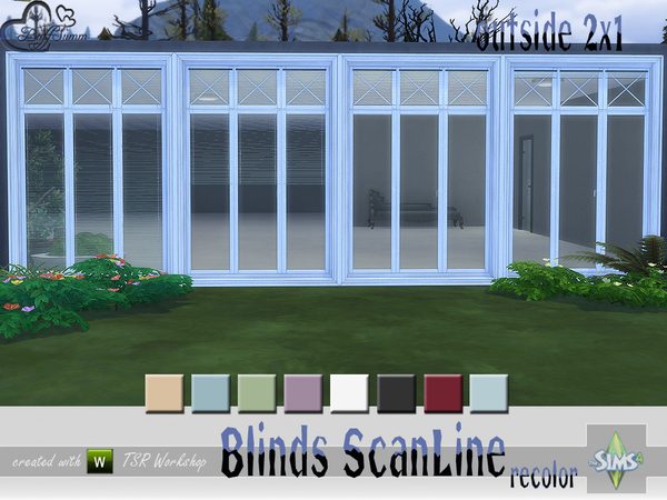 Recolor Blinds ScanLine Outside by BuffSumm at TSR image 2524 Sims 4 Updates
