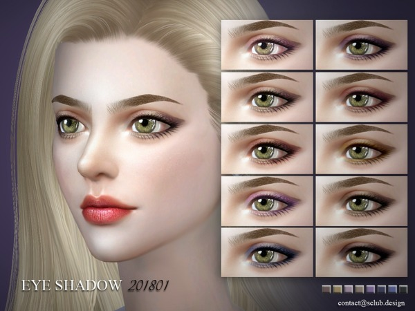 Eyeshadow 201801 by S Club LL at TSR image 256 Sims 4 Updates