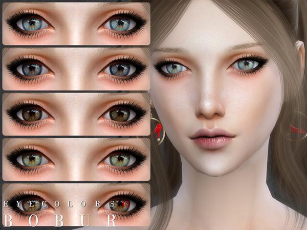 Sims 4 Eyecolors 10 by Bobur3 at TSR