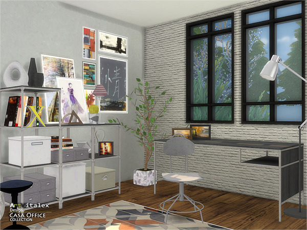 Casa Office by ArtVitalex at TSR image 258 Sims 4 Updates
