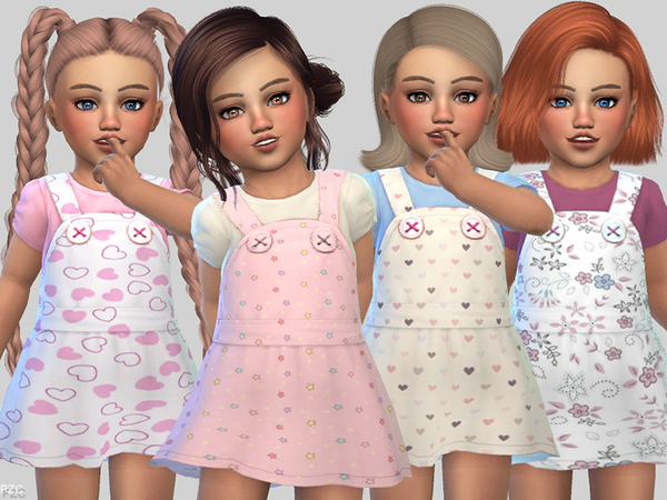 Sims 4 Toddler Dress Collection Melinda by Pinkzombiecupcakes at TSR