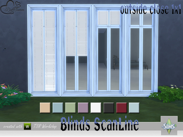 Blinds ScanLine Outside by BuffSumm at TSR image 2621 Sims 4 Updates