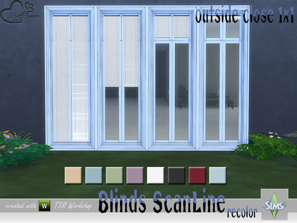 Recolor Blinds ScanLine Outside by BuffSumm at TSR image 2623 Sims 4 Updates