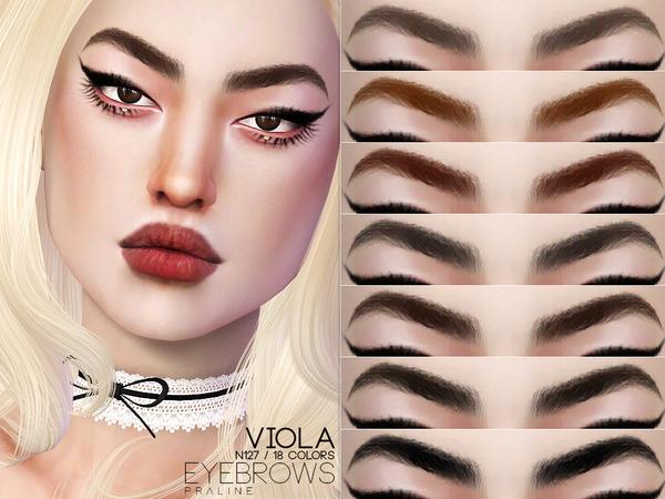 Sims 4 Viola Eyebrows N127 by Pralinesims at TSR