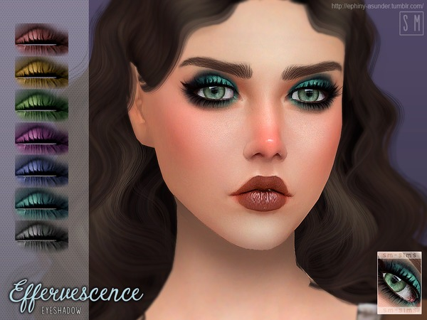 Effervescence Eyeshadow by Screaming Mustard at TSR image 271 Sims 4 Updates