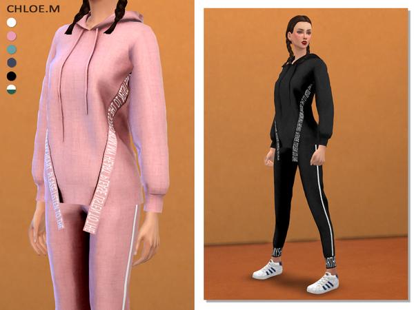 Sims 4 Sport Hoodie + Pants03 by ChloeMMM at TSR