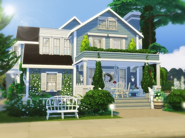 Classic Beauty house by MychQQQ at TSR image 2716 Sims 4 Updates