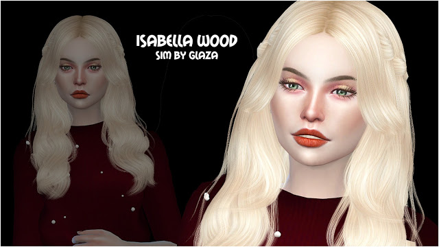 Sims 4 ISABELLA WOOD at All by Glaza