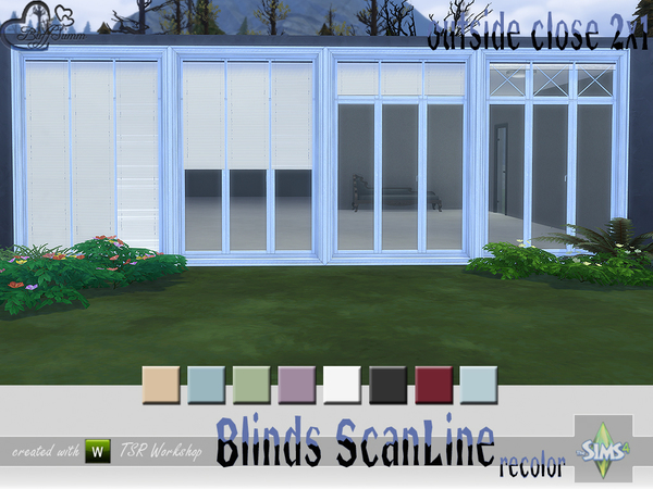 Recolor Blinds ScanLine Outside by BuffSumm at TSR image 2724 Sims 4 Updates