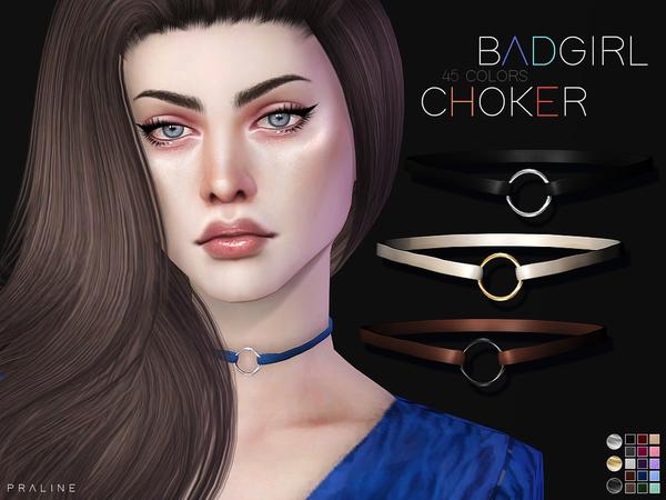 Badgirl Choker by Pralinesims at TSR image 273 Sims 4 Updates