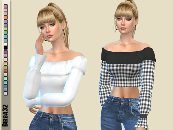 Betty sweater by Birba32 at TSR image 279 Sims 4 Updates