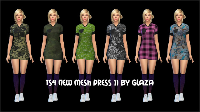 Sims 4 Dress 11 at All by Glaza