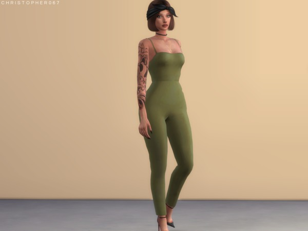 Candice Jumpsuit by Christopher067 at TSR image 2811 Sims 4 Updates