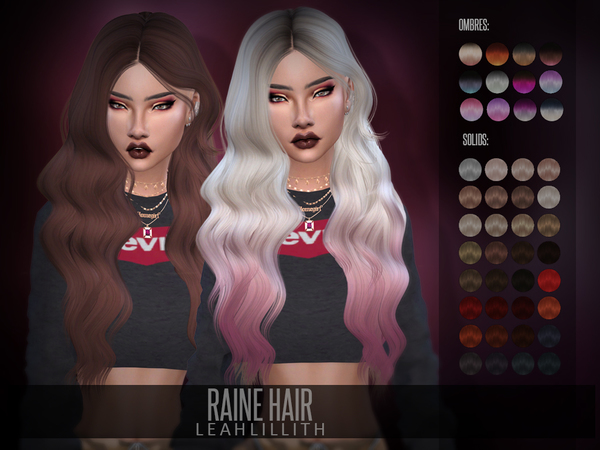 Raine Hair by LeahLillith at TSR image 282 Sims 4 Updates