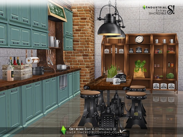 Industrial Kitchen extras by SIMcredible at TSR image 2822 Sims 4 Updates