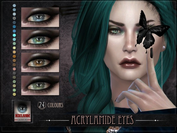Sims 4 Acrylamide Eyes by RemusSirion at TSR