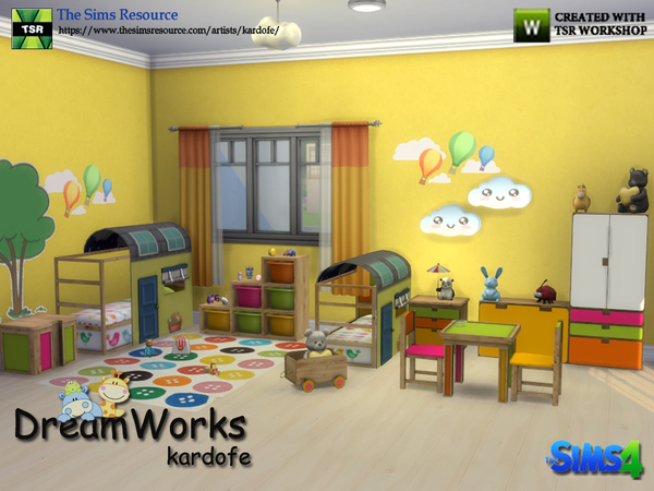 DreamWorks kids bedroom by kardofe at TSR image 286 Sims 4 Updates
