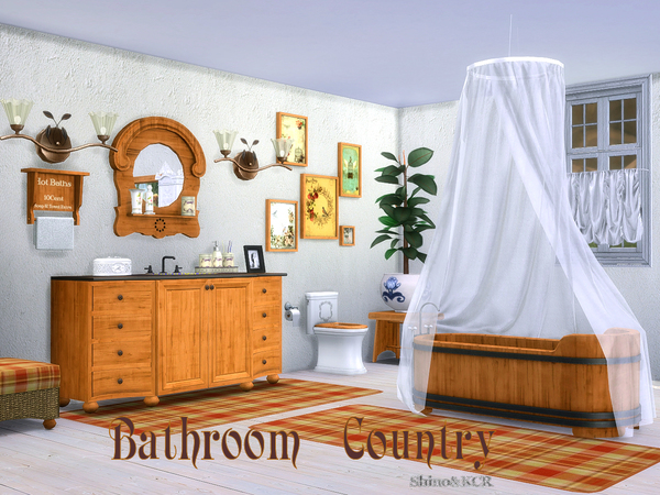 Bathroom Country by ShinoKCR at TSR image 287 Sims 4 Updates