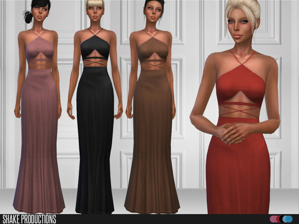 Sims 4 111 Gown by ShakeProductions at TSR