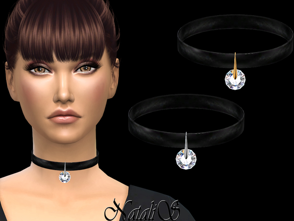 Round crystal choker by NataliS at TSR image 289 Sims 4 Updates