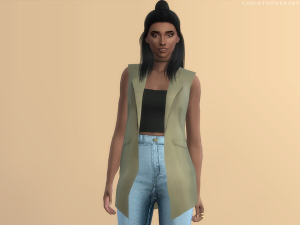 Sims 4 Cool Girl Top by Christopher067 at TSR
