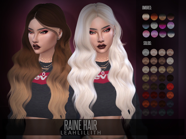 Raine Hair by LeahLillith at TSR image 292 Sims 4 Updates